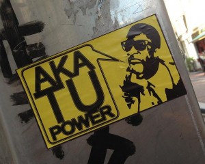 sticker AKA tu power Amsterdam