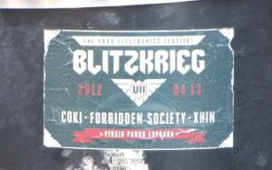 sticker 'Blitzkrieg' Litouwen