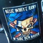 sticker Blue white army M-side Den Bosch