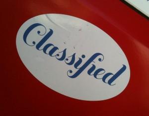 sticker Classified Amsterdam