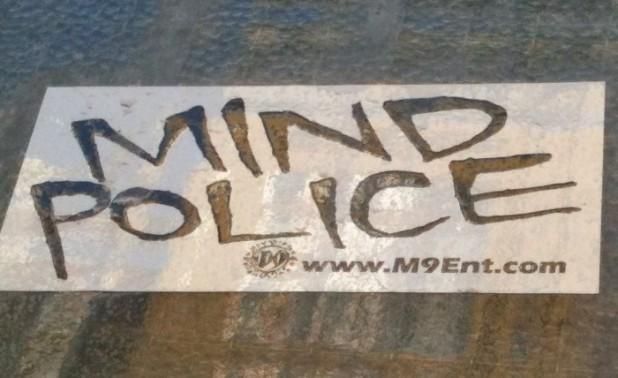 sticker Mind Police Amsterdam m9ent