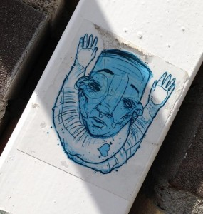sticker Narcoze Amsterdam blue face