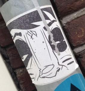 sticker Narcoze Amsterdam center 2014 July