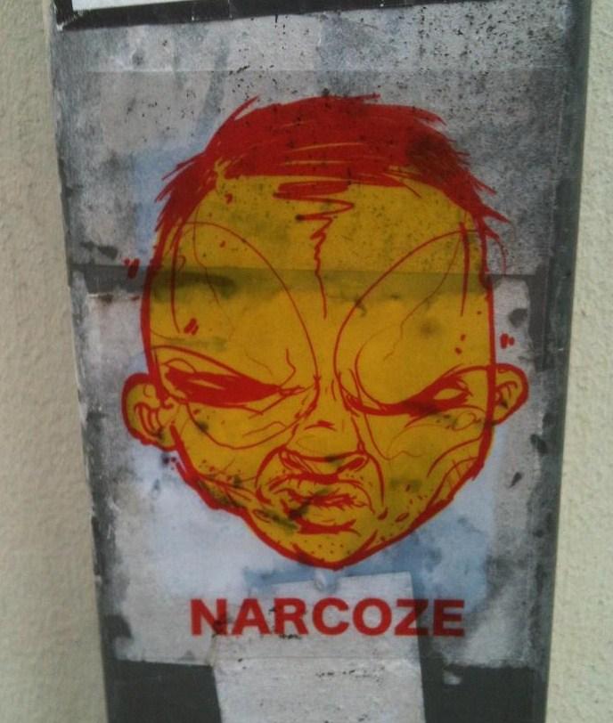 sticker Narcoze Amsterdam grumpy face