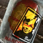 sticker Narcoze Bust transparant Amsterdam
