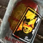 sticker Narcoze Bust transparant Amsterdam