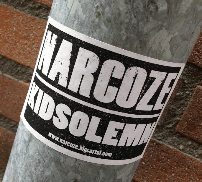 sticker Narcoze Kid Solemn bigcartel.com Amsterdam 2013
