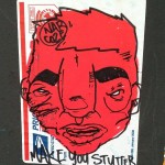 sticker Narcoze make you stutter Amsterdam