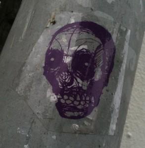 sticker Narcoze schedel skull Amsterdam art