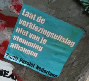 sticker Partij Passief Nederland