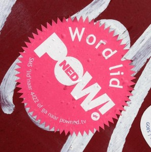 sticker Powned Middelburg juli 2013