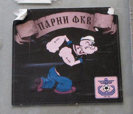 sticker Riga FK Ventspils hooligans
