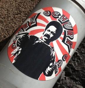 sticker Schurk sc Amsterdam 2013 crook with guns