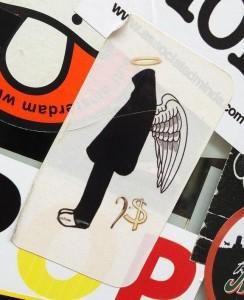 sticker angel dollar-sign Amsterdam engel