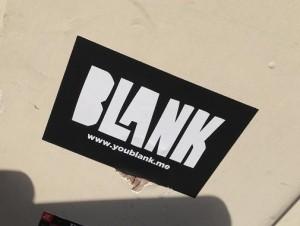 sticker blank youblank.me Amsterdam