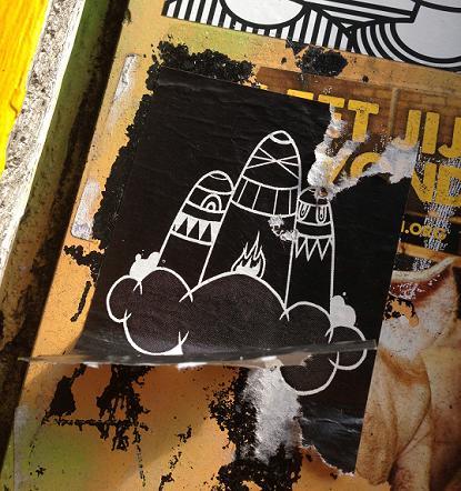 sticker boerka's Amsterdam burqa's