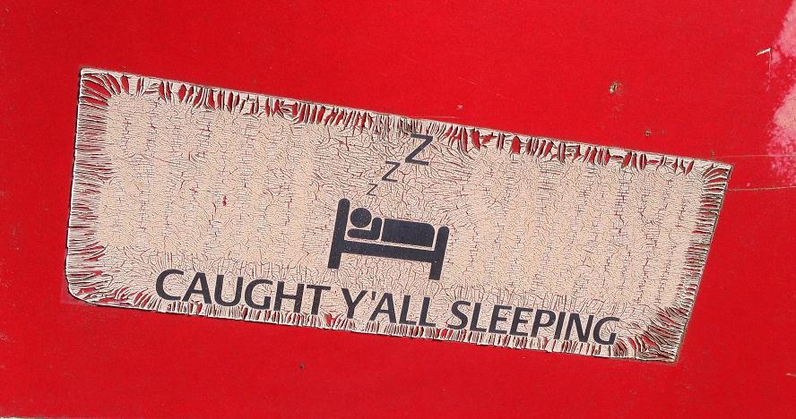 sticker caught y'all sleeping Amsterdam