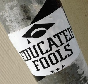 sticker educated fools Amsterdam