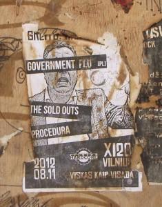 sticker government flu Vilnius Lithuania