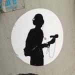 sticker interviewer microfoon Amsterdam