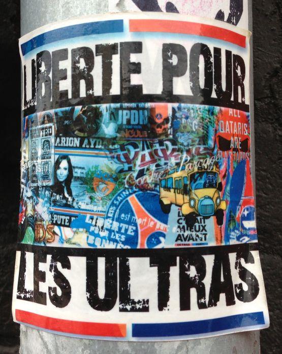sticker liberté pour les ultras Amsterdam center 2013 September all qataris are bastards