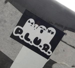 sticker p.l.u.r. Amsterdam