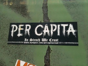 sticker per capita in stench we trust Amsterdam