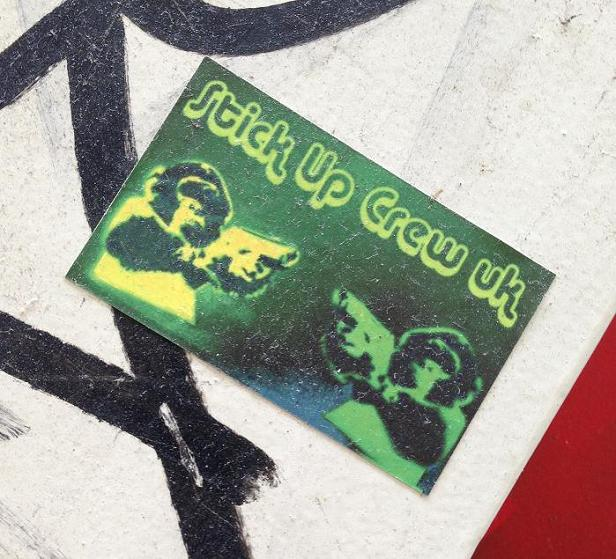 sticker stick up crew UK Amsterdam