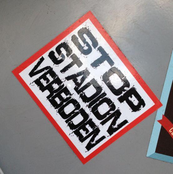 sticker stop stadionverboden Amsterdam 2013 August