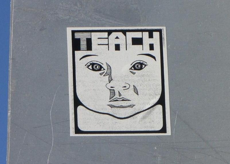 sticker teach LA 2011 Los Angeles Sunset boulevard