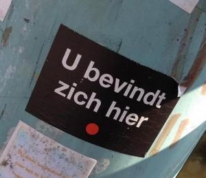 sticker u bevindt zich hier Amsterdam