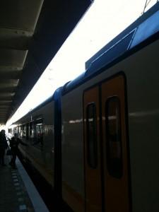 trein bij WTC Zuid Amsterdam