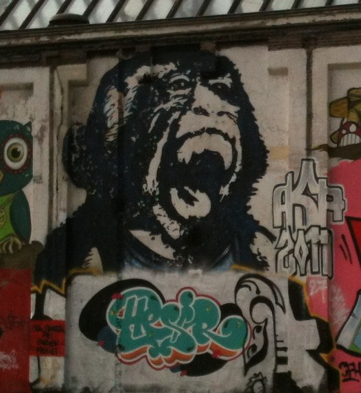 Bust gorilla ape painting artofBust Amsterdam