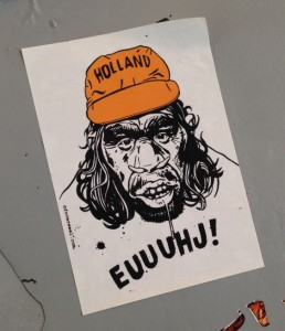 Holland euuuhj sticker football-supporter Amsterdam 2014 July mfoverweel oranje