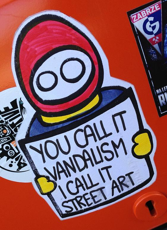 LN sticker you call it vandalism i call it street art Amsterdam August 2013