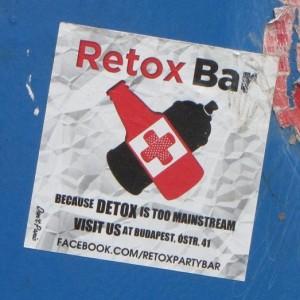 Retox-Bar Sticker Boedapest
