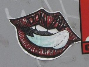 Riga sticker don't talk kiss