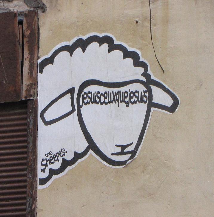 Sticker sheepest je-suis-ceux-que-je-suis Budapest 2013
