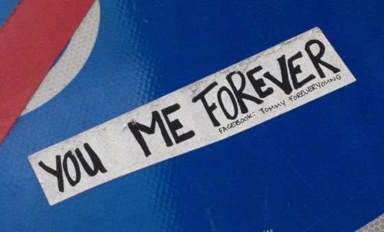 Tommy ForeverYoung sticker you me forever Amsterdam 2013 November