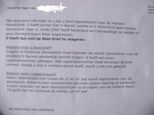 brief dienstplicht 2013