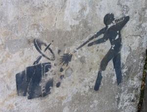 graffiti guy shoots TV Baltics