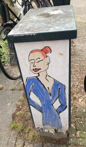 poster vrouw Amsterdam straatkunst 2013