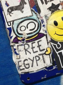 sticker Free Egypt LN Amsterdam kunst