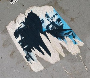 sticker Hitler Osama bin Laden Amsterdam