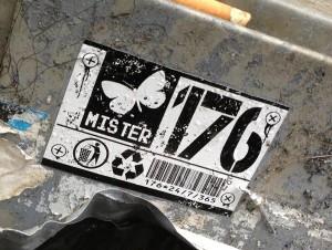 sticker Mister176 schroeven screws Amsterdam