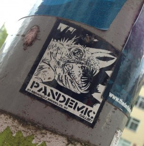 sticker Pandemic Broadway Amsterdam