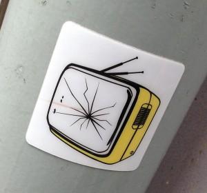 sticker TV stuk Amsterdam