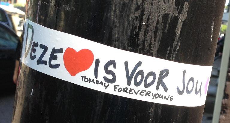 sticker Tommy Forever Young Amsterdam Centrum 2013
