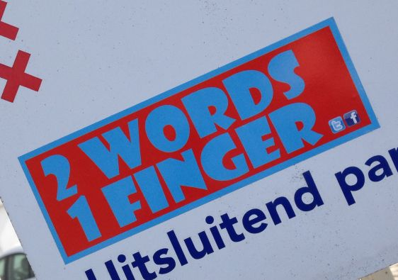 sticker Tommy ForeverYoung Amsterdam center February 2 words 1 finger