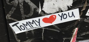 sticker Tommy Young Forever loves you Amsterdam 2013